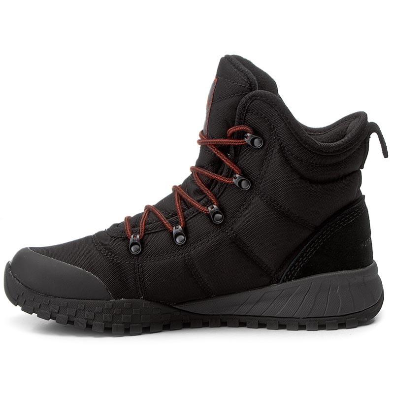 """ОРИГИНАЛ! Зимние кроссовки, ботинки Columbia Fairbanks Omni-Heat """"Black Rusty"""" (Черные)"""