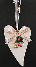 Новогодний декор Rino Белое сердце (000155054)