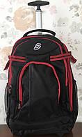 Дорожная сумка-рюкзак на колесах с выдвижной ручкой Чёрная