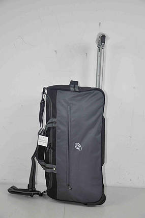 0b81aa9b37ba Дорожная сумка на колесах с выдвижной ручкой Серая с чёрным: продажа ...