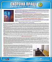 Стенд. Охорона праці медперсоналу кабінетів електро- і світлолікування. 0,6х0,5. Пластик