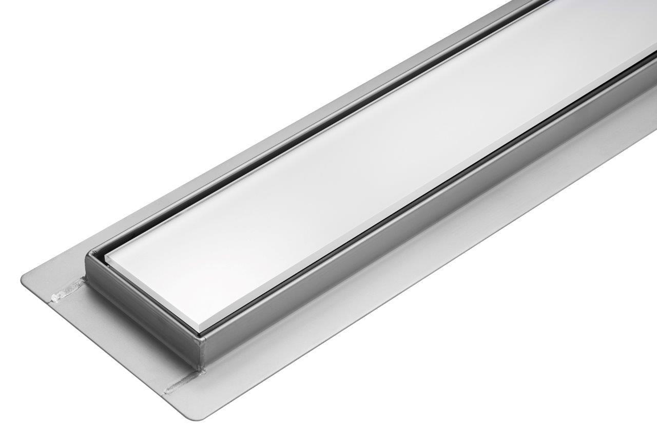 Трап для душа  FALA White Gass 600 мм корпус нержавеющая сталь