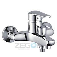 Смеситель для ванны с душем Zegor SIT (Z31-SIT-A182) однорычажный литой с коротким изливом цвет хром