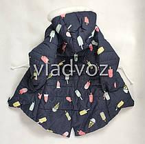 Детская зимняя куртка утепленная на зиму для девочки 2-3 года, фото 2