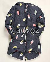 Детская зимняя куртка утепленная на зиму для девочки 2-3 года, фото 3