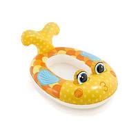 Детский надувной плотик для плавания Intex 59380 «Золотая рыбка» 117 х 76 см , фото 1