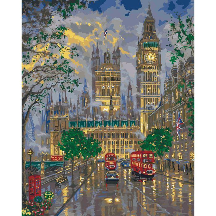 "Картина по номерам ""Дворец Вестминстер 2, 40x50 см., Идейка"