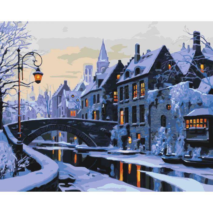 """Картина по номерам """"Прогулянка нічним містом"""", 40x50 см., Идейка"""