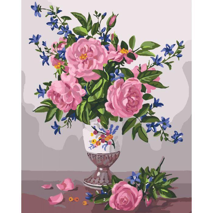 """Картина по номерам """"Вишуканість троянд"""", 40x50 см., Идейка"""