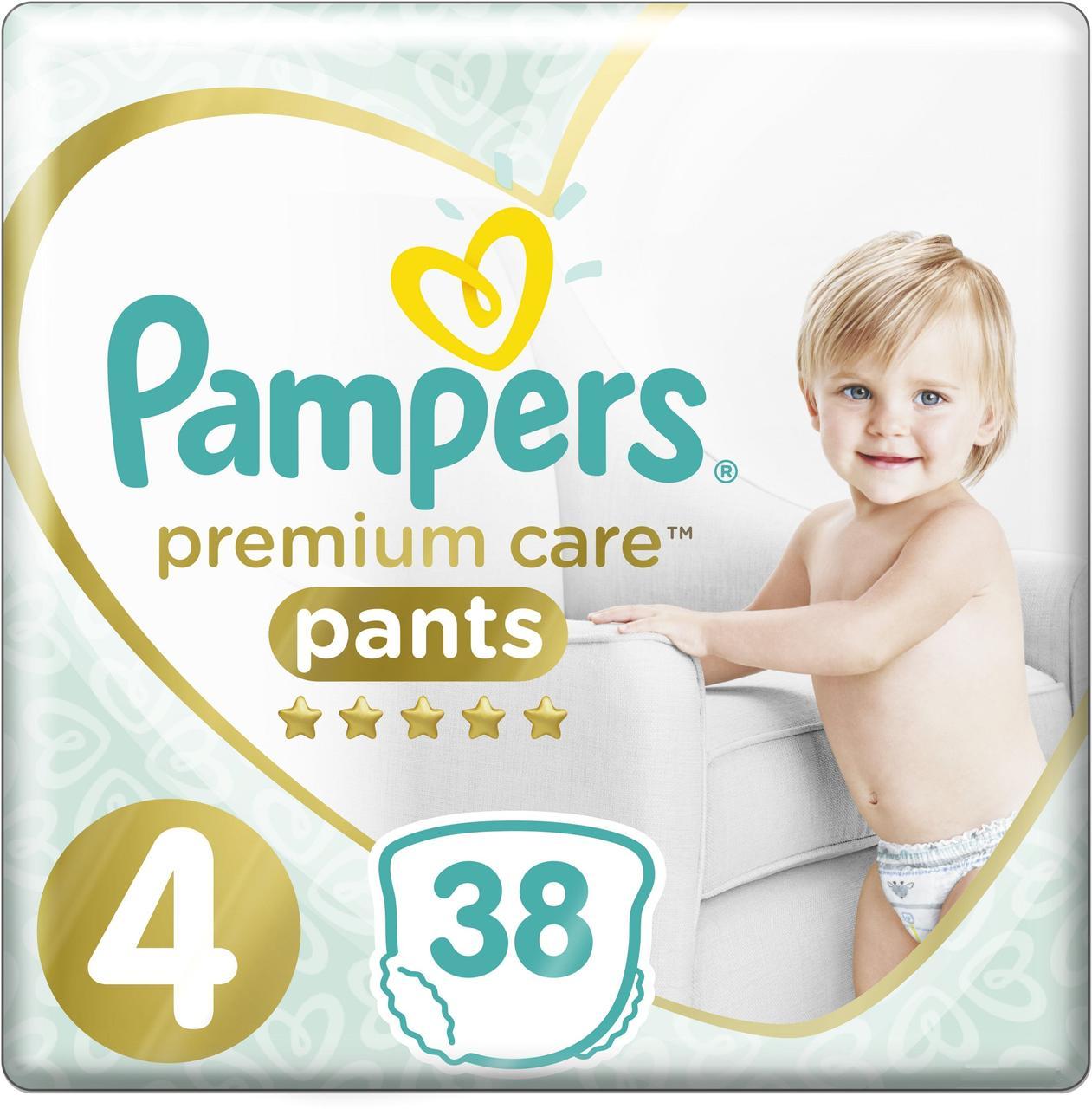 Подгузники-трусики Pampers Premium Care Pants Maxi 4 (9-15 кг), 38 шт