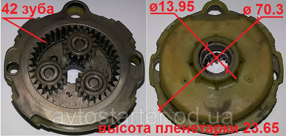 Планетарка редуктора стартера ACURA TSX HONDA Accord Element 2.0 2.4 i VTEC