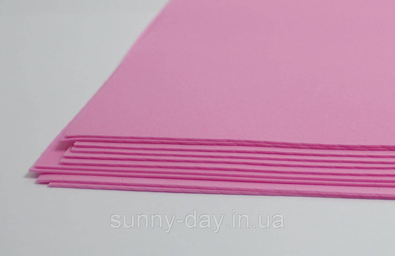 Фоамиран лист (20х30см), темный розовый