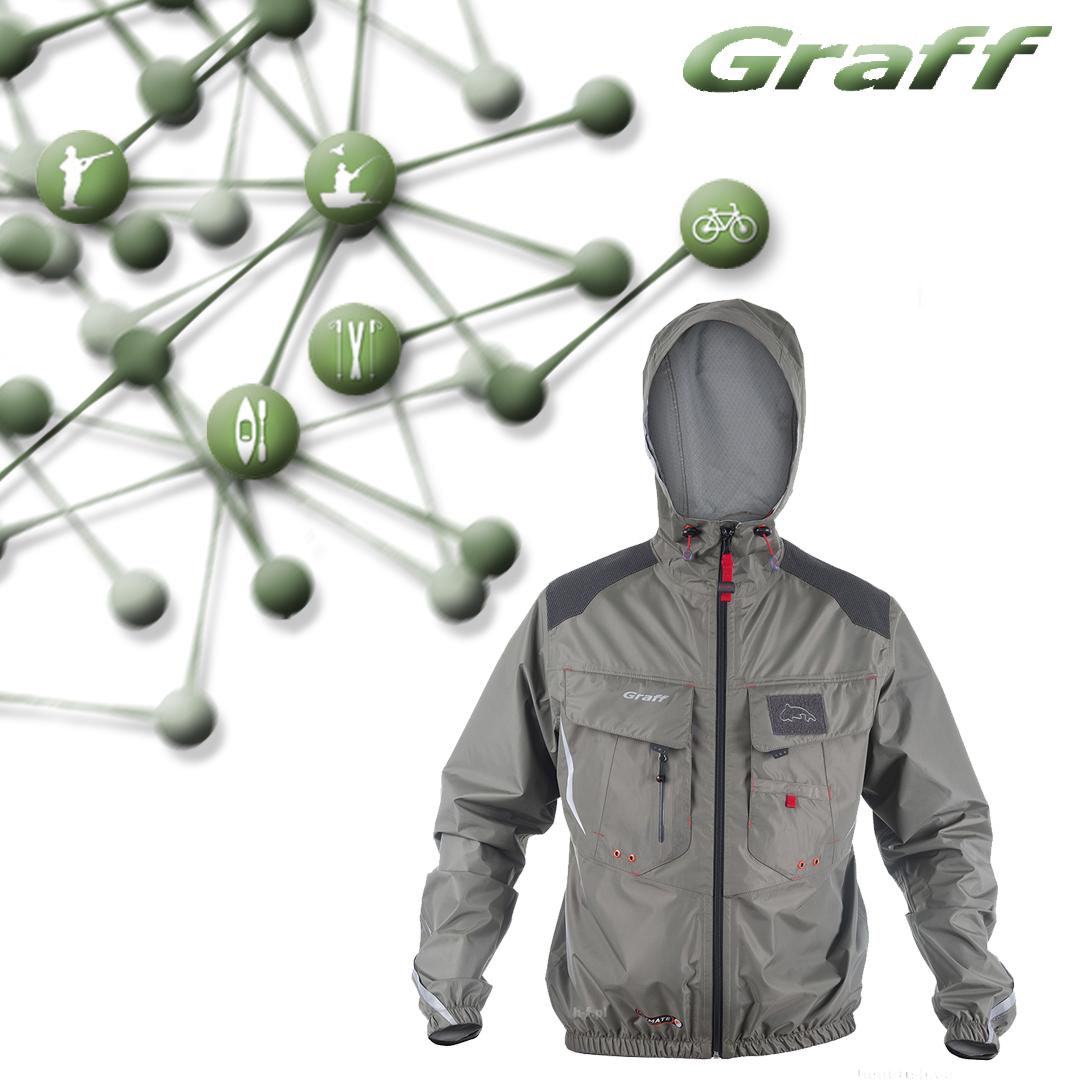 Рыболовная куртка-дождевик Climate - GRAFF PRO 605-B-CL