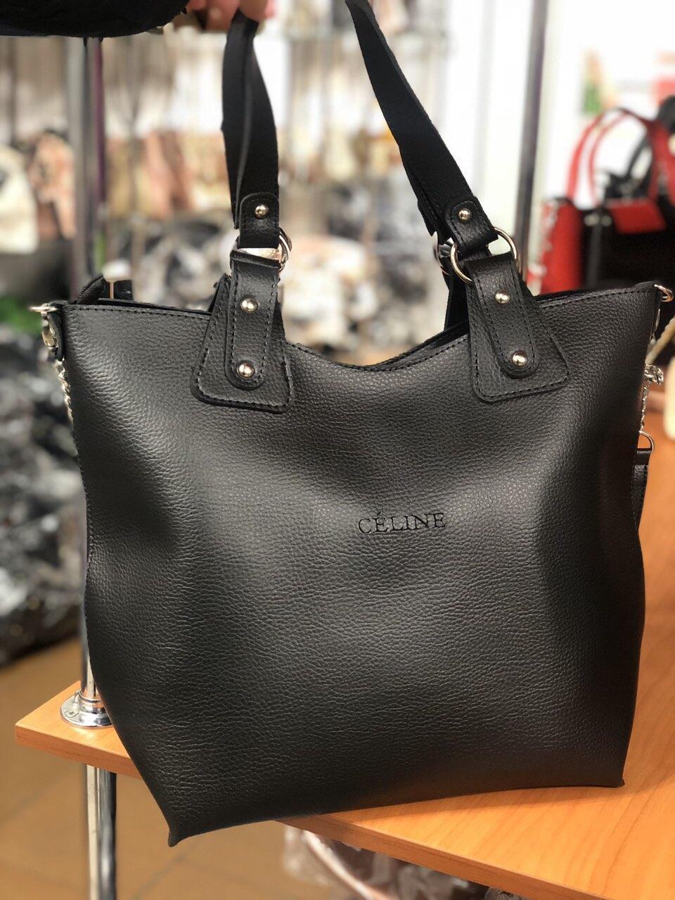 Женская сумка в стиле Celine черная