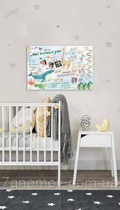 """Интерактивный постер """"Мой первый год"""" в тубусе , фото 2"""