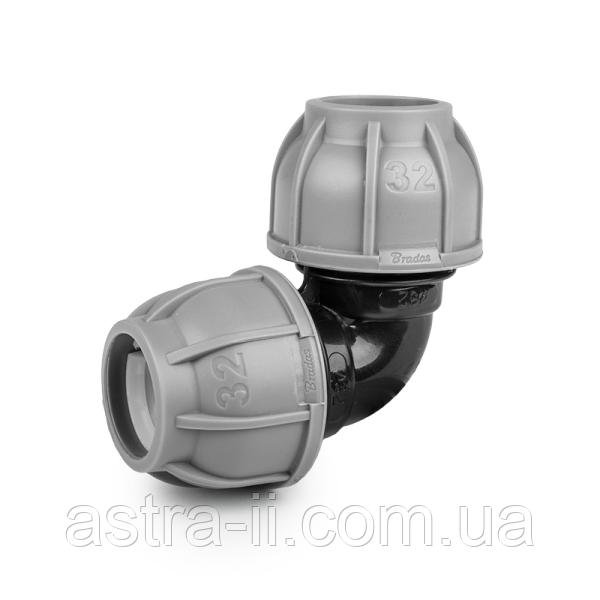 DSRA10K3232 PN10 З'єднувач-коліно для трубки  PE 32 мм, арт. DSRA10K3232 (шт)