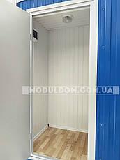 Вагончик душевая, мобильный (6 х 2.4 м.), душевые кабинки 5 шт., на основе цельно-сварного металлокаркаса., фото 2