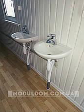 Вагончик душевая, мобильный (6 х 2.4 м.), душевые кабинки 5 шт., на основе цельно-сварного металлокаркаса., фото 3