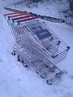 Торговые тележки 80 Л. новые, торговые покупательские тележки, тележки для супермаркета