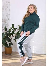 Женские спортивные брюки с лампасами Лорис / размер 48-72