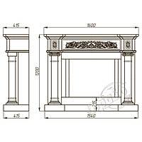 Портал каминный Браво Континенталь Botticino .Визуализация в подарок!, фото 2