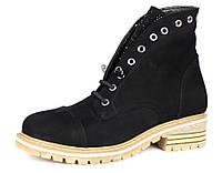 Женские зимние ботинки Blizzarini (черный) кожа - размер 36-40