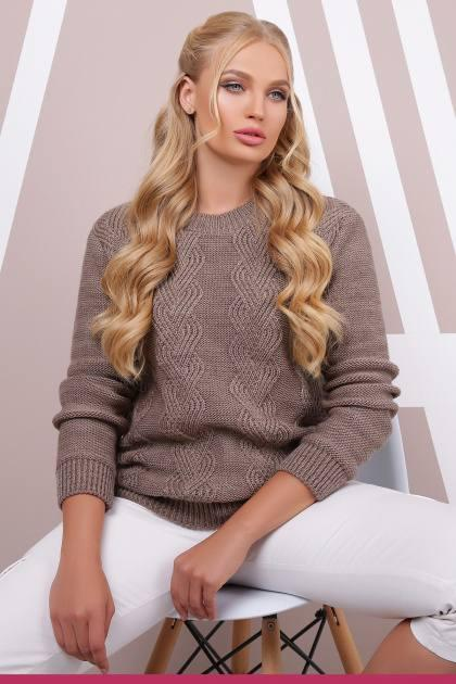 Вязаный свитер Инара кофе(48-54)