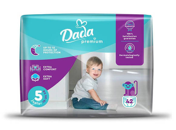 Підгузники для дітей Dada PREMIUM JUNIOR (15-25 кг) 42 шт/уп №5, фото 2