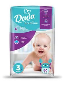 Підгузники для дітей Dada PREMIUM MIDI (4-9 кг) 60 шт/уп 3