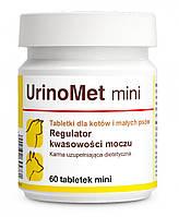 Dolfos UrinoMet mini 60 табл. - Уриномет міні - добавка для лікування і профілактики МКБ у дрібних собак і кішок