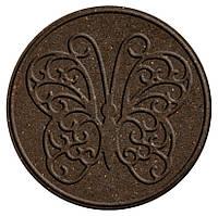 """Декор для дорожек сада,диам.45см,серо-коричневый, """"бабочка"""""""