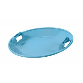"""Санки-тарелка Plastkon """"Супер стар"""" Голубой"""