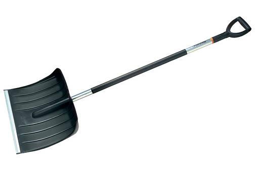 Лопата для уборки снега Snow pusher 50 ALU с алюминиевой ручкой 50*145 см, черная, фото 2