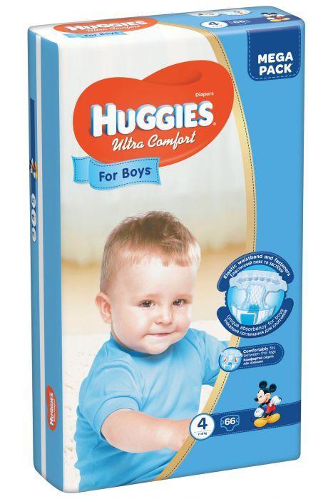 """Huggies Подгузники для мальчиков """"Ultra Comfort"""" 4 (7-16кг, 66 шт)"""