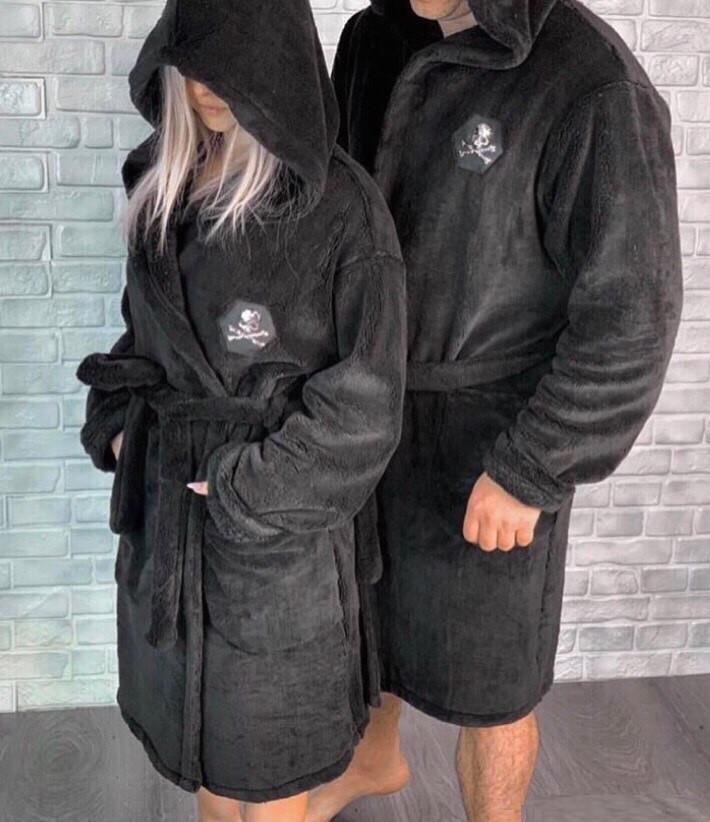 Халат мужской с капюшоном (халаты для пары) -