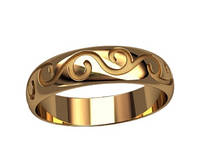 """Обручальное золотое кольцо """"Волна"""""""
