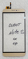 Сенсор (тачскрін) для Cubot Note S original золотий