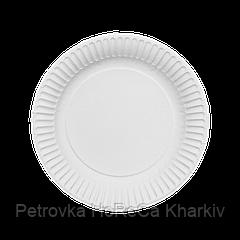 Тарелка бумажная Белая ХТ18 100шт/уп 16см  (8/800)