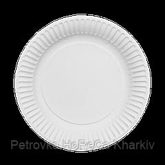 Тарелка картонная Белая ХТ23 100шт/уп