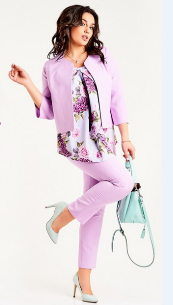 62b211e56ccd Классический молодежный стильный женский брючный костюм-тройка большого  размера. - Интернет магазин