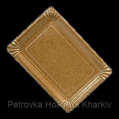 Тарелка картон КРАФТ ХТ12*17 1уп/100 шт (18/1800шт)