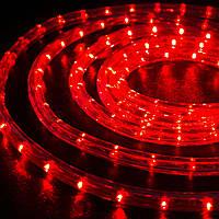 Дюралайт светодиодный, прозрачная трубка 10 м, цвет: красный