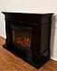Пристенный современный каминокомплект из МДФ Fireplace Нью Йорк со звуком и эффектом живого огня, фото 3