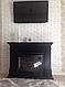 Пристенный современный каминокомплект из МДФ Fireplace Нью Йорк со звуком и эффектом живого огня, фото 4