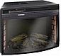 Пристенный современный каминокомплект из МДФ Fireplace Нью Йорк со звуком и эффектом живого огня, фото 5