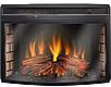 Пристенный современный каминокомплект из МДФ Fireplace Нью Йорк со звуком и эффектом живого огня, фото 6