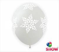"""Снежинки большие прозрачные 12"""" 30 см"""
