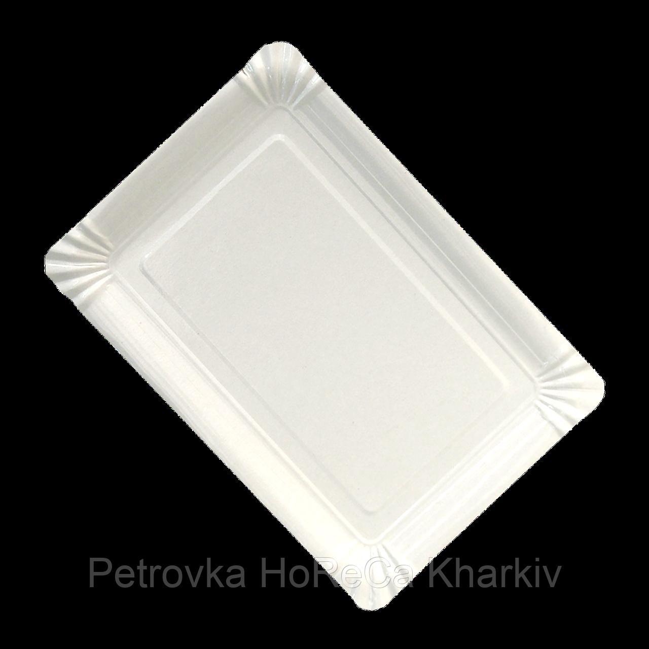 Тарелка картонная Белая ХТ15*22см 100шт/уп