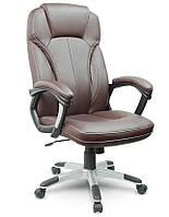 Офісне крісло комп'ютерне AEGO (Еко-шкіра механізм TILT коричневе), фото 1
