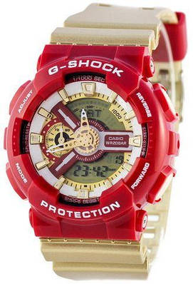 Наручные часы Casio G-Shock AAA GA-110 Gold-Red копия